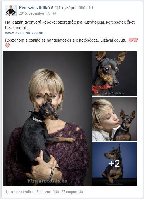 Keresztes Ildikó és kutyája, Liza
