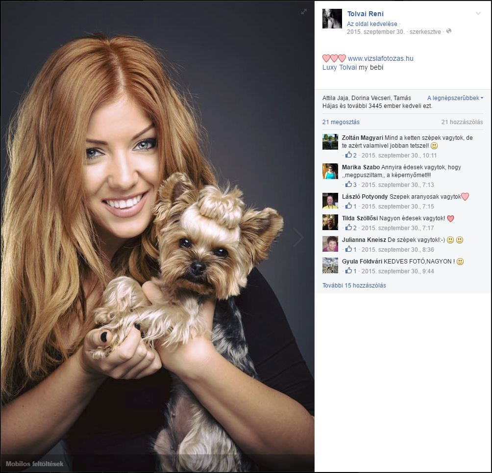 Tolvai Reni és kutyája Luxy